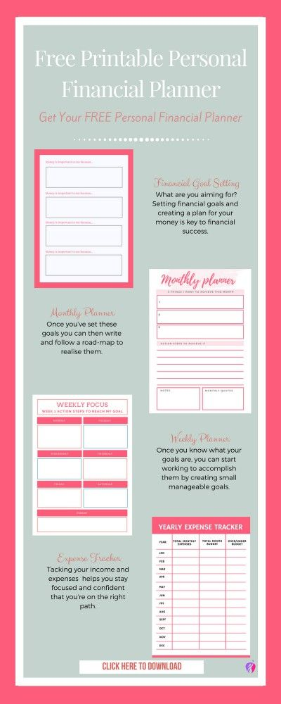 image about Free Printable Financial Planner identify Particular person Money Planner and Tracker - Totally free Printables