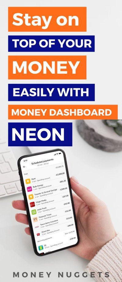 Money dashboard neon